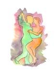 Пары танцуя танго Аргентины Стоковые Изображения RF