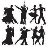 Пары танцы иллюстрация вектора