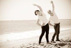 Пары тренируя совместно морем Стоковое Изображение RF
