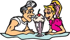 пары трястиют делить Бесплатная Иллюстрация