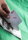 Пары тузов с счетом $100 Стоковая Фотография RF