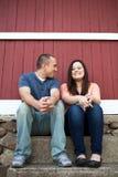 Пары усмехаться и потехи Стоковое фото RF
