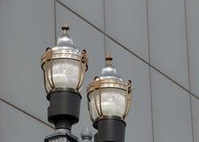 Пары уличных фонарей Стоковое Изображение
