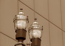 Пары уличных фонарей Стоковая Фотография
