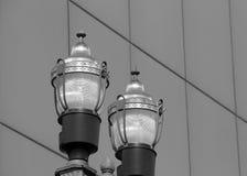 Пары уличных фонарей Стоковые Изображения