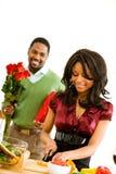 Пары: Фокус на варить женщины Стоковое Изображение RF