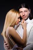 Пары человека и женщины в влюбленности Стоковое Фото