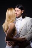 Пары человека и женщины в влюбленности Стоковое фото RF
