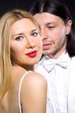 Пары человека и женщины в влюбленности Стоковое Изображение