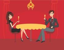 пары шампанского выпивают детенышей flirt Стоковые Фото