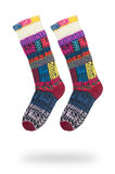 Пары шерстяных носок при изолированная картина Стоковые Фото