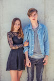 пары любят подростковое Стоковая Фотография RF