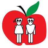 пары яблока Стоковое фото RF