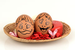 Пары яичек искусств и стороны Стоковые Фото