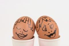 Пары яичек искусств и стороны Стоковое фото RF
