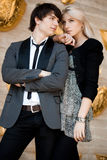 Пары - девушка и ванта Стоковое Изображение RF
