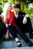 Пары - девушка и ванта Стоковое фото RF