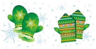 пары 2 mittens Стоковое Изображение