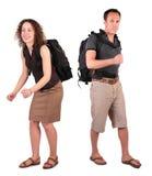 пары backpacks стоковое фото