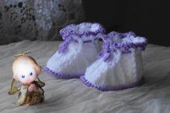 Пары bootees для newborn Стоковое Фото