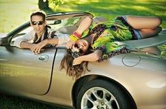 пары cabriolet красивые Стоковые Фотографии RF