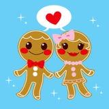 Пары Gingerbread иллюстрация штока