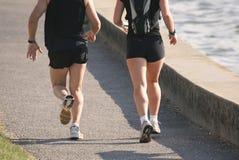 пары jogging, котор побежали тренировка Стоковое Изображение