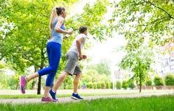 Пары jogging Стоковое Фото