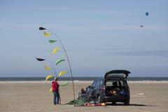 Пары Kiteflyer делают готовый Стоковое Изображение