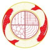 Пары koi карпа на графическом дизайне воды иллюстрация вектора