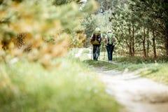 Пары Senor в лесе стоковое изображение rf