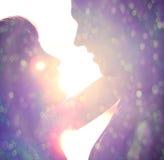 пары silhouette детеныши Стоковые Фото