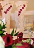 Пары Wedding стекла Стоковое Изображение