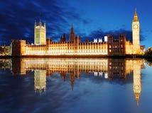 Парламент Великобритании - большой ben, Англия, Великобритания Стоковые Фото