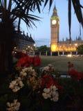 Парламент Великобритании Лондона Вестминстера придает квадратную форму Стоковое Изображение RF