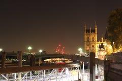 Парламент Лондона, сторона реки, Вестминстер Стоковые Фото