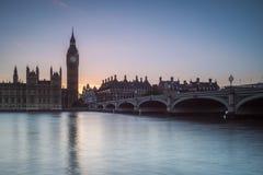 Парламент на заходе солнца Стоковые Фото