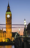 Парламент на заходе солнца Стоковое фото RF