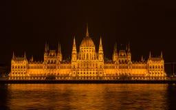 парламент ночи budapest Стоковые Фото