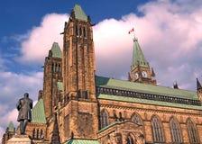 Парламент Оттавы центральный блок май 2008 Стоковые Изображения