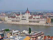 Парламент от холма замка, Будапешта Стоковые Изображения RF