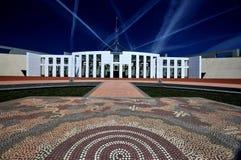 Парламент расквартировывает Канберру Австралию стоковые фотографии rf