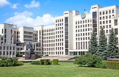 парламент minsk здания Беларусь Стоковое Изображение RF