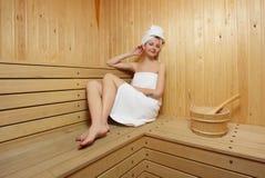 пар ванны принимает женщину стоковые изображения