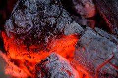 Пар жары от огня стоковое изображение