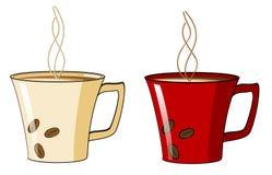 пар кружки кофе горячий Стоковое Изображение