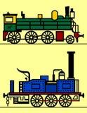 пар паровозов Стоковые Изображения