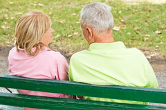 пар старший outdoors Стоковое Фото