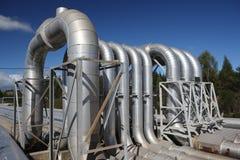 пар труб энергии геотермический Стоковое Изображение