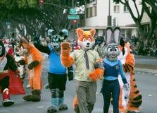 Пасадина, Калифорния - 20-ое ноября 2016: Парад Doo Dah Стоковая Фотография RF